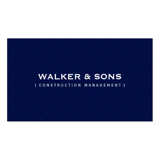 MASCULINE BUSINESS CARD :: simply smart  navy blue