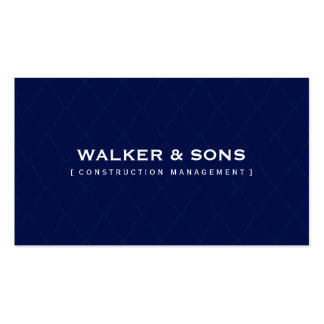 MASCULINE BUSINESS minimal simple smart navy blue Pack Of Standard Business Cards