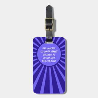 Masculine Double Sided Custom Blue Luggage Tag