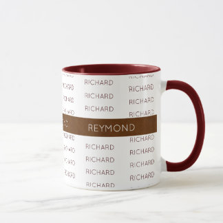 masculine first and last names elegant typography mug