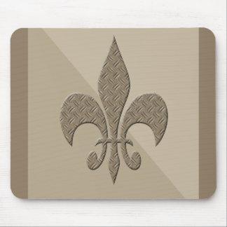 Masculine Fleur De Lis Design Mouse Pad