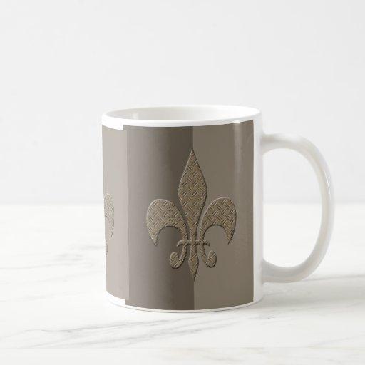 Masculine Fleur De Lis Coffee Mugs