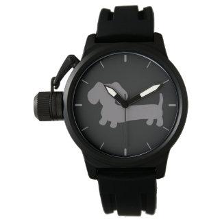 Masculine Gray Dachshund Wiener Dog Watch
