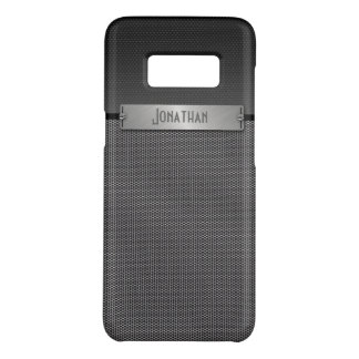 Masculine Gray Metal Chain Look Monogram Case-Mate Samsung Galaxy S8 Case