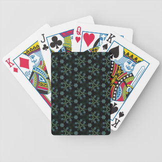 Masculine Green Teal Funky Pattern Bicycle Playing Cards