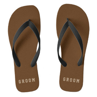 Masculine Groom Flip Flops Custom Colors Thongs