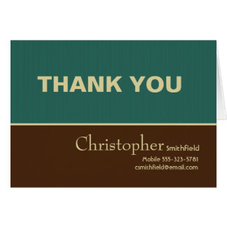 Masculine Job Interview Thank You Card