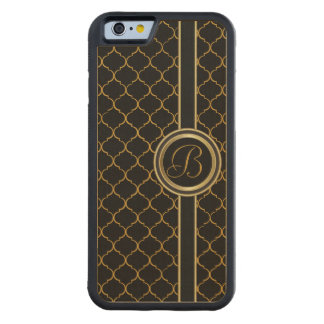 Masculine Monogram Executive Carved Maple iPhone 6 Bumper Case