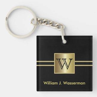 Masculine Monogram Executive Key Ring