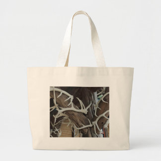 Masculine Photo Antlers Wrapped poles Jumbo Tote Bag