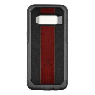 Masculine Red & Black Vintage Leather