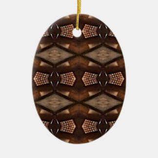 Masculine Shades of  Brown Pattern Ceramic Oval Decoration
