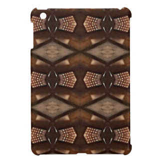 Masculine Shades of  Brown Pattern iPad Mini Cover