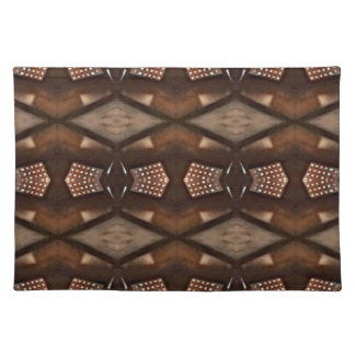 Masculine Shades of  Brown Pattern Placemat