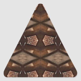 Masculine Shades of  Brown Pattern Triangle Sticker