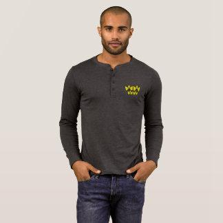 Masculine shirt of long mangos Henley - Gay