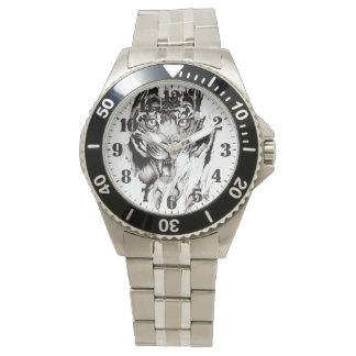 "Masculine steel clock ""TIGER "" Watch"