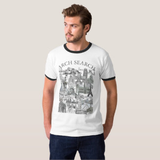 Masculine t-shirt Ringer Arch Mural Search