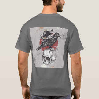 Masculine t-shirt Skull and Crow