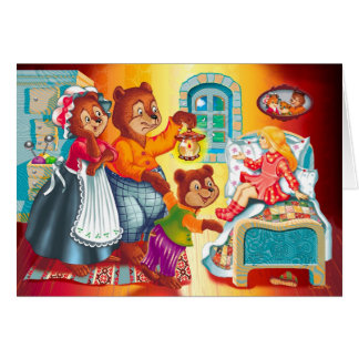 Masha and 3 bears card