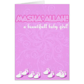 masha'Allahbaby girl Card