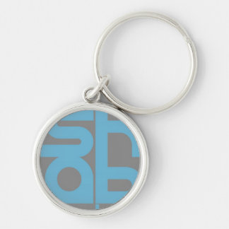 Mashable Silver-Colored Round Key Ring