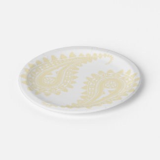 Masi filled Paisley Paper Plates 7""