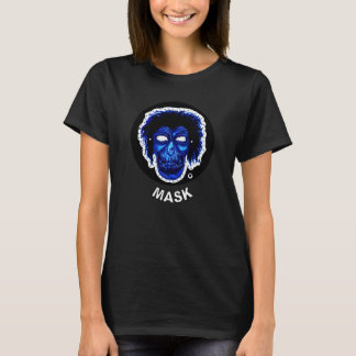 Mask - Blue Black Circle T-Shirt