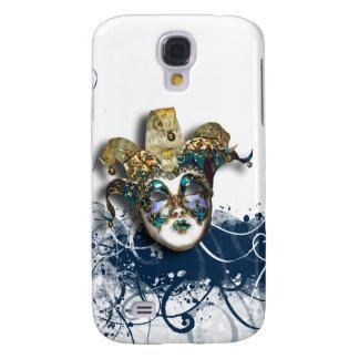 Mask blue silver Venetian masquerade Samsung Galaxy S4 Cases