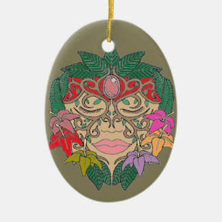 Mask Ceramic Ornament
