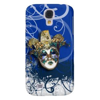 Mask gold blue Venetian masquerade Galaxy S4 Case