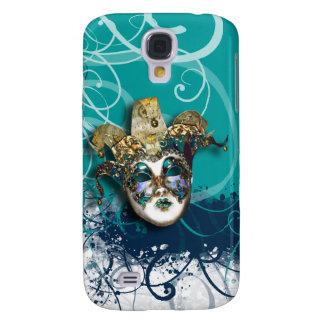Mask gold blue Venetian masquerade Samsung Galaxy S4 Covers