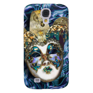 Mask gold blue Venetian masquerade Samsung Galaxy S4 Case