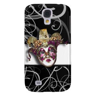 Mask gold pink Venetian masquerade Galaxy S4 Case