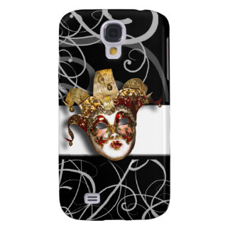 Mask gold red Venetian masquerade Galaxy S4 Covers