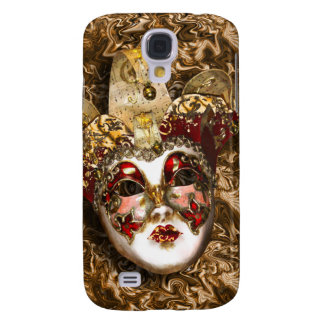 Mask gold red Venetian masquerade Samsung Galaxy S4 Cases