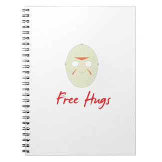 Mask Halloween Horror Costumes Free Hugs Gif Notebook