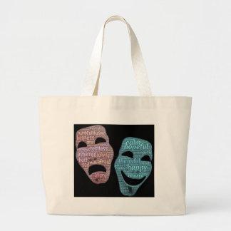 mask large tote bag