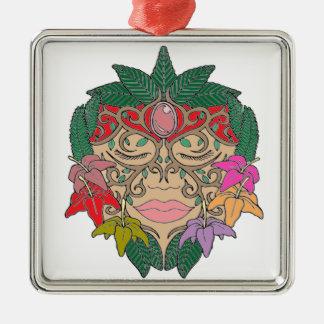 Mask Metal Ornament