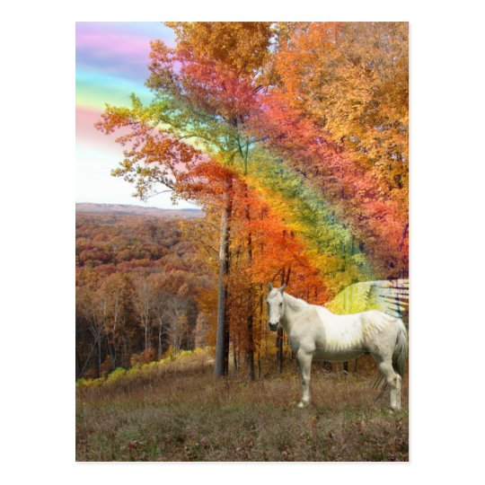 MASK OF REALITY - REVELATION RAINBOW PEGASUS POSTCARD