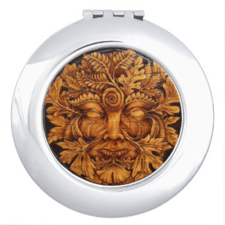 Mask of the Green Man Mirror Compact Compact Mirrors