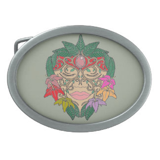 Mask Oval Belt Buckles