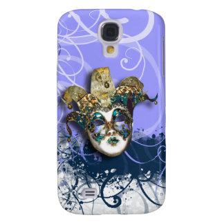 Mask purple gold Venetian masquerade Galaxy S4 Cases