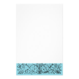 Mask Scroll Blue Stationery Paper