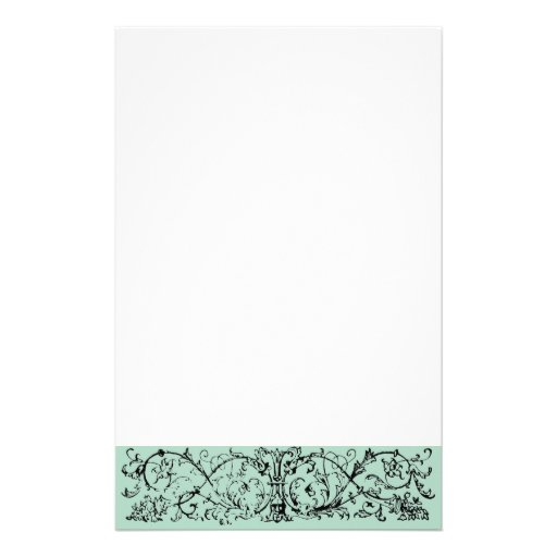 Mask Scroll Green Stationery Design