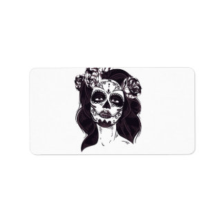 Mask Skull Label