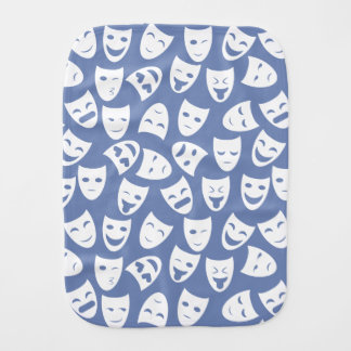 Mask w/ Different Emotions Pattern Burp Cloth