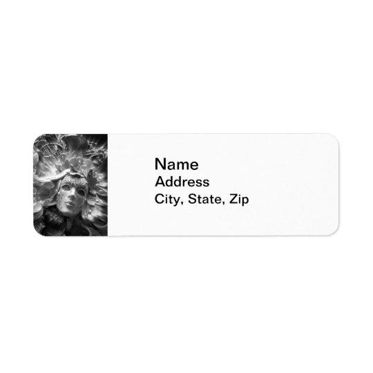 Masked Angel Return Address Label