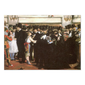 Masked Ball at the Opera by Manet, Impressionism 5x7 Paper Invitation Card