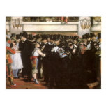 Masked Ball at the Opera, Manet, Vintage Fine Art Post Cards